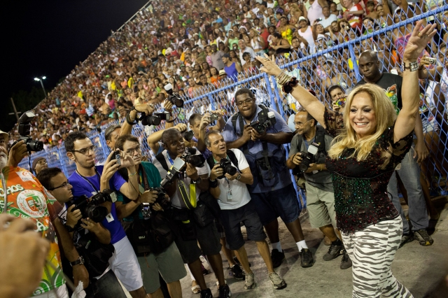 Brazil - Carnival - Rio de Janeiro Samba Schools practice at the Sambadrome